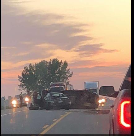 Emergency services responding to Highway 3 crash near Seven