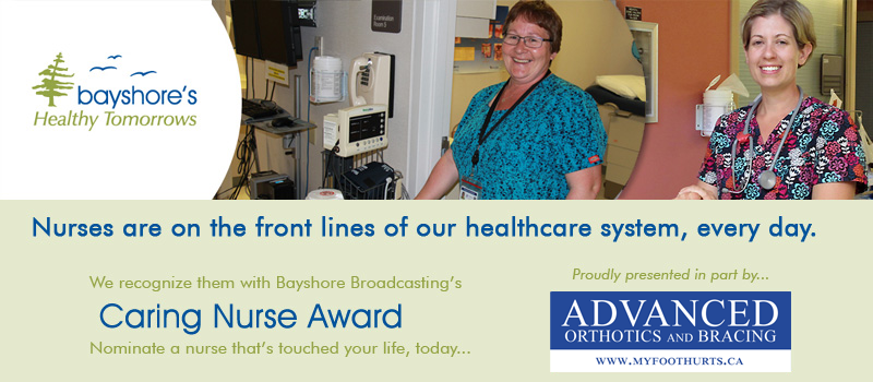 Feature: https://www.bayshorebroadcasting.ca/caring-nurse-award/