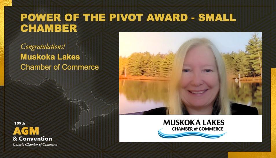 La Muskoka Lakes Chamber reçoit un prix prestigieux pour la façon dont elle a rendu ses services pendant la pandémie