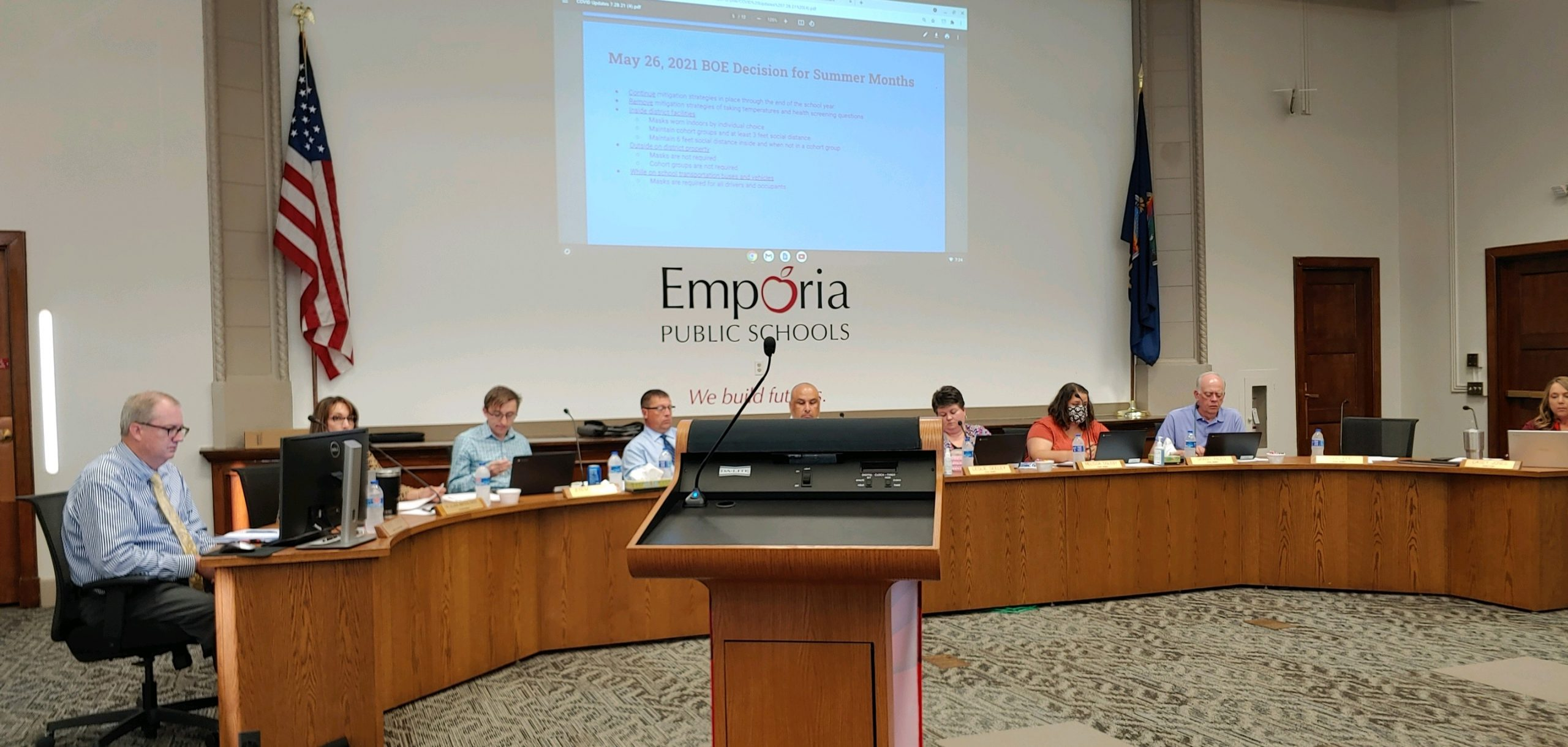 USD 253 Board approves mitigation policies for coming school year Wednesday evening