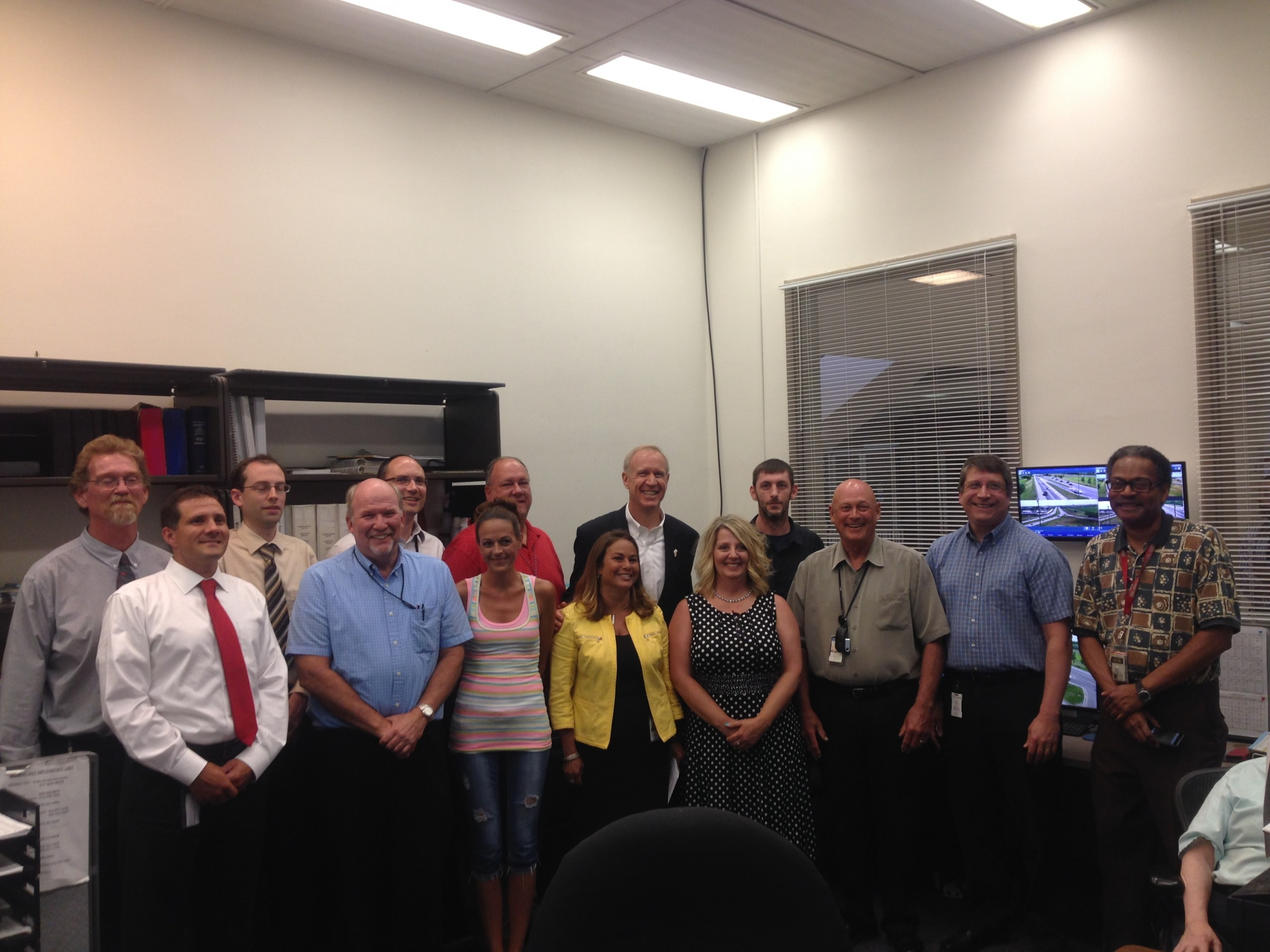 Governor Rauner Visited IDOT Headquarters on Tuesday