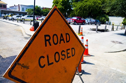 Part of W. Mound Rd. Closed a Few Hours Today