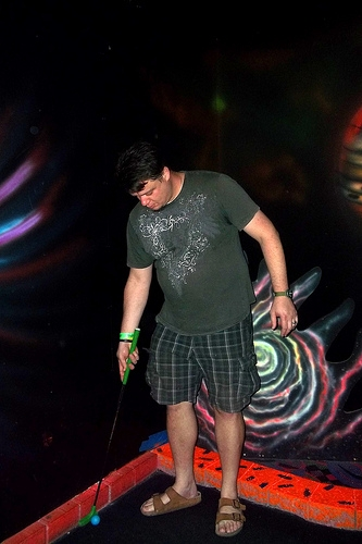 Lights Out Event at Overlook Adventure Mini Golf