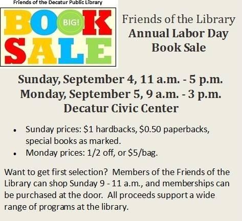 Friends of the Decatur Public Library Sun & Mon