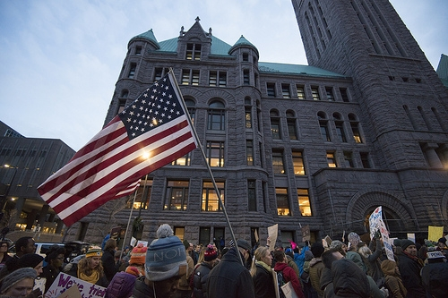 Protesters Rally Against Trump's Agenda In Normal