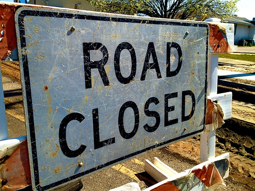 Part of N. Franklin St. Closed Tomorrow