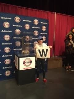 2016 Chicago Cubs Worlds Series Trophy Visited Decatur