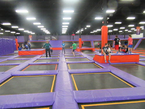 Trampoline Park Under Construction
