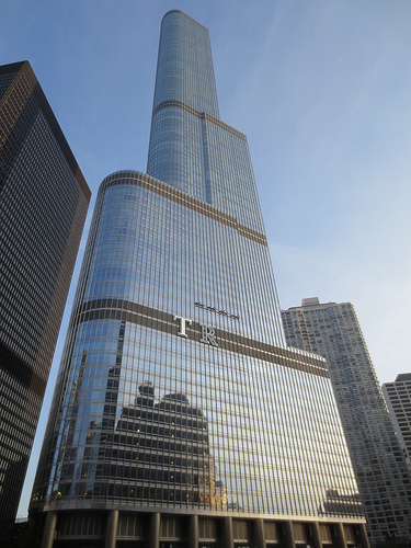 Four Charged With Damaging Trump Tower In Chicago