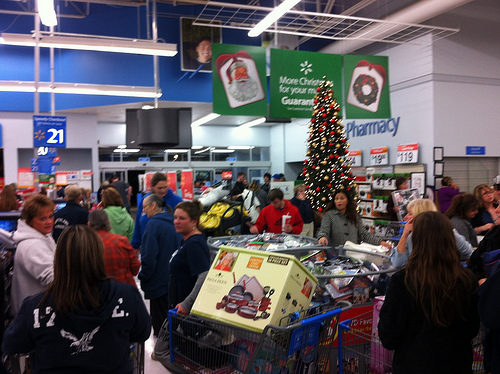 Black Friday Shoppers Already Out In Force