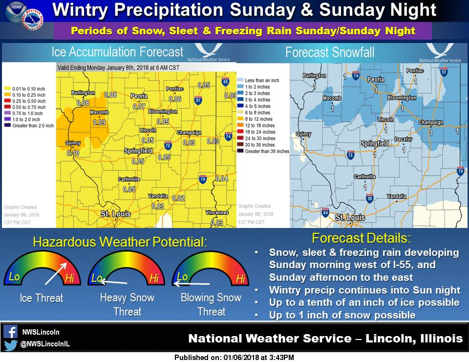 WINTER WEATHER ADVISORY IN EFFECT FROM NOON SUNDAY TO 6 AM CST MONDAY