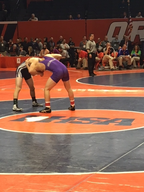 Class 1A Area State Wrestling Results -- Day One