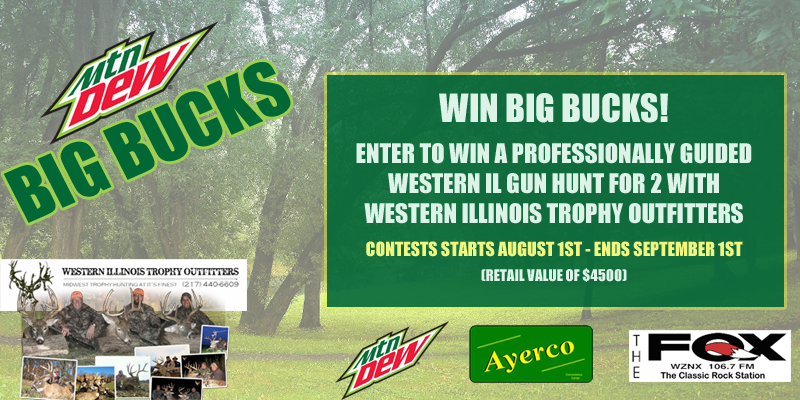 Feature: http://www.decaturradio.com/mt-dew-big-bucks-giveaway/