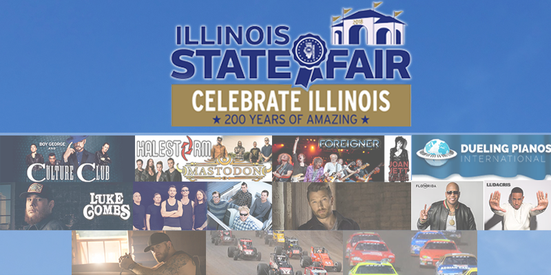 2018 Illinois State Fair Grandstand Line Up