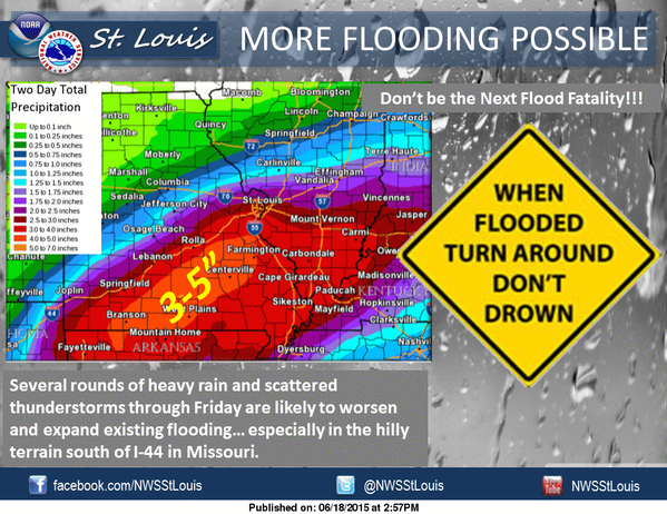 Heavy rains have arrived for the area for today, tonight