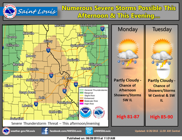 Severe Weather possible this afternoon and tonight