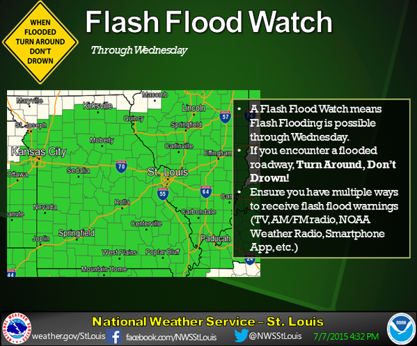 Flash Flood Watch in effect until 1 AM Thursday