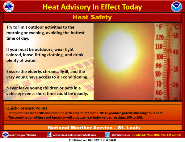 Heat Safety Tips from the National Weather Service