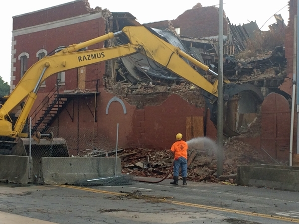 Downtown demolition work making progress