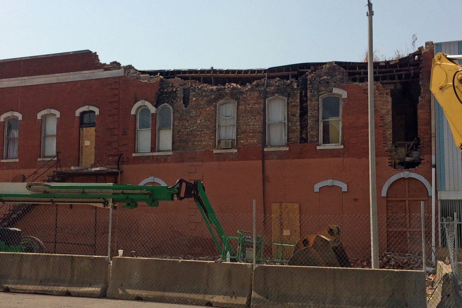 Demolition work progressing on downtown buildings