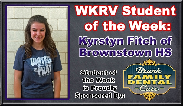 WKRV-Brunk Family Dental Care Student of the Week Kyrstyn Fitch