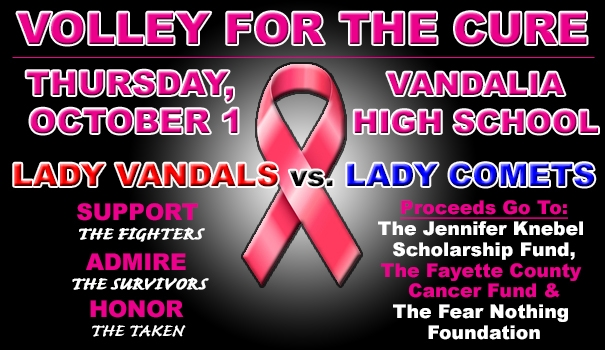 Annual Volley for the Cure Match Set for Thursday, October 1 at VCHS