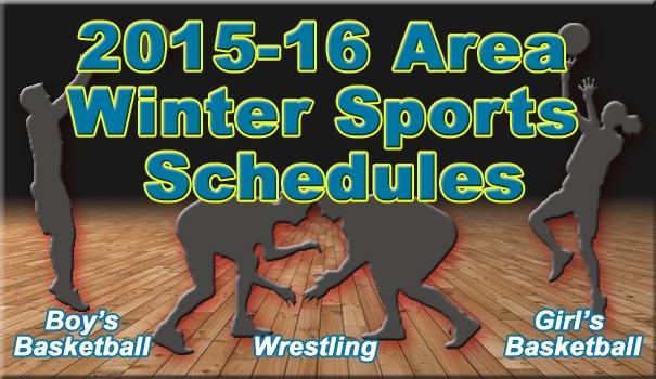 2015-16 Area Winter Sports Schedules