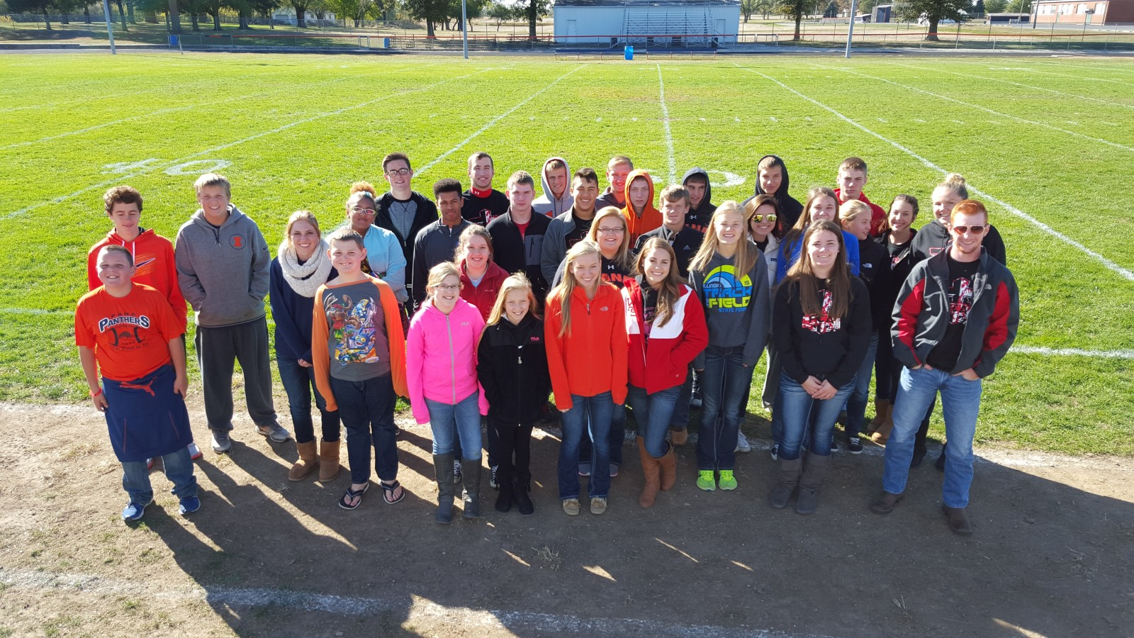 Vandalia & Pana HS Athletes join together for FCA event