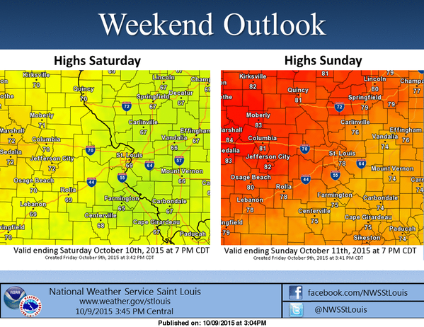 Mild weekend in store for the area