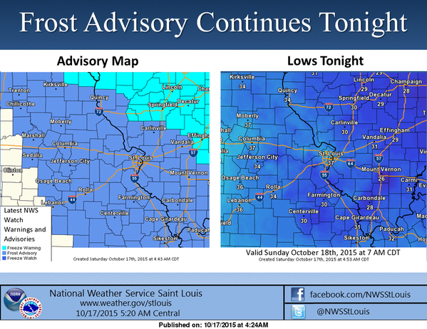 Cool day, chilly night in store for the area