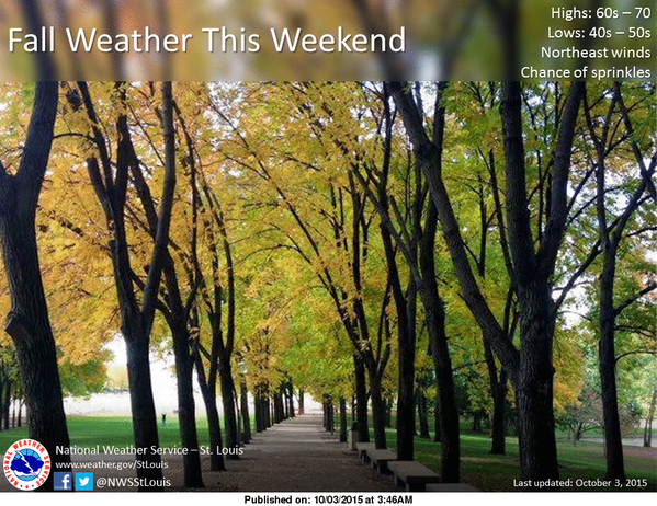 Mild weather for the weekend