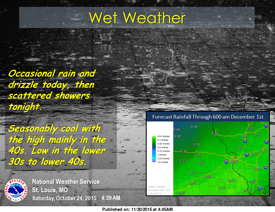 Wet weather today and tonight