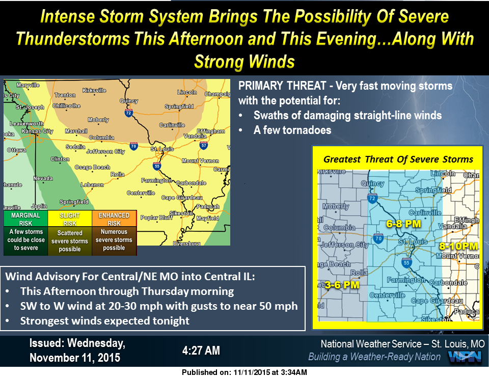 Severe Storms Possible tonight