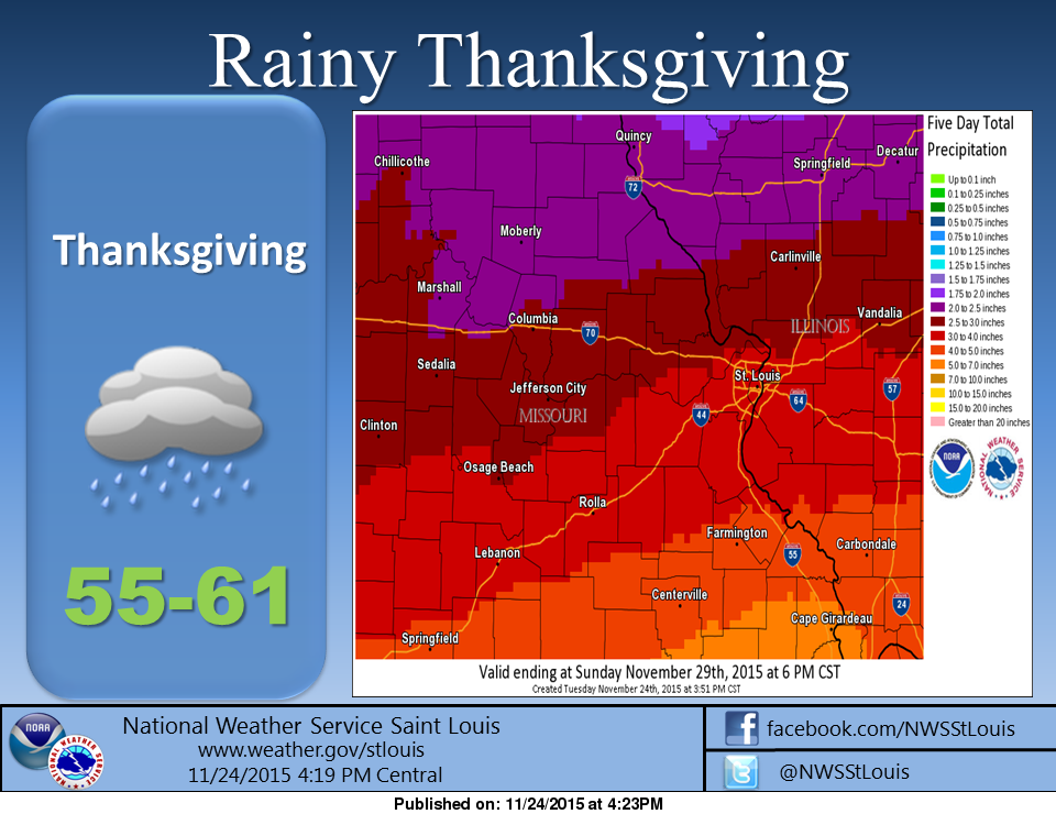 Very wet Thanksgiving weekend