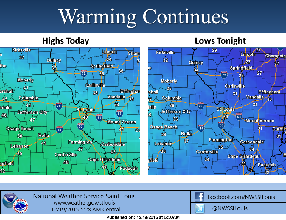 After short cold snap, we now begin to warm back up