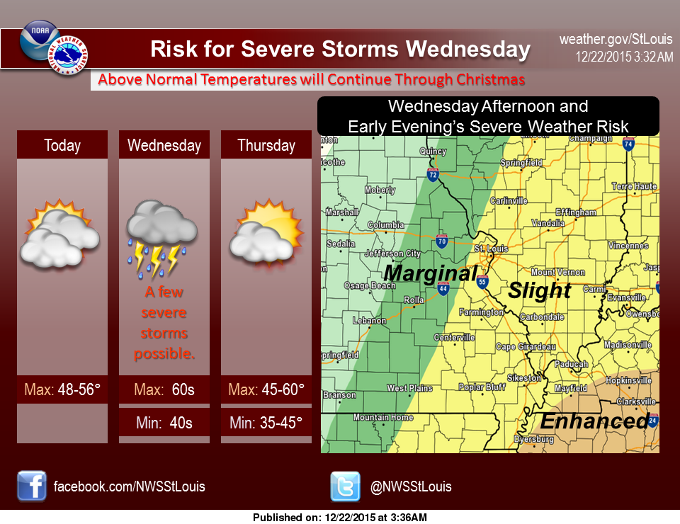Severe weather, then a prolonged period of rain, on the way for the area