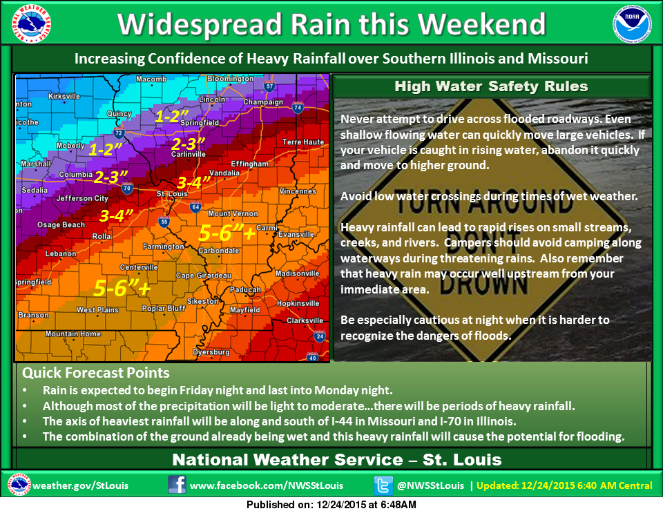 As system gets closer, update from NWS on rain amounts expected for our area