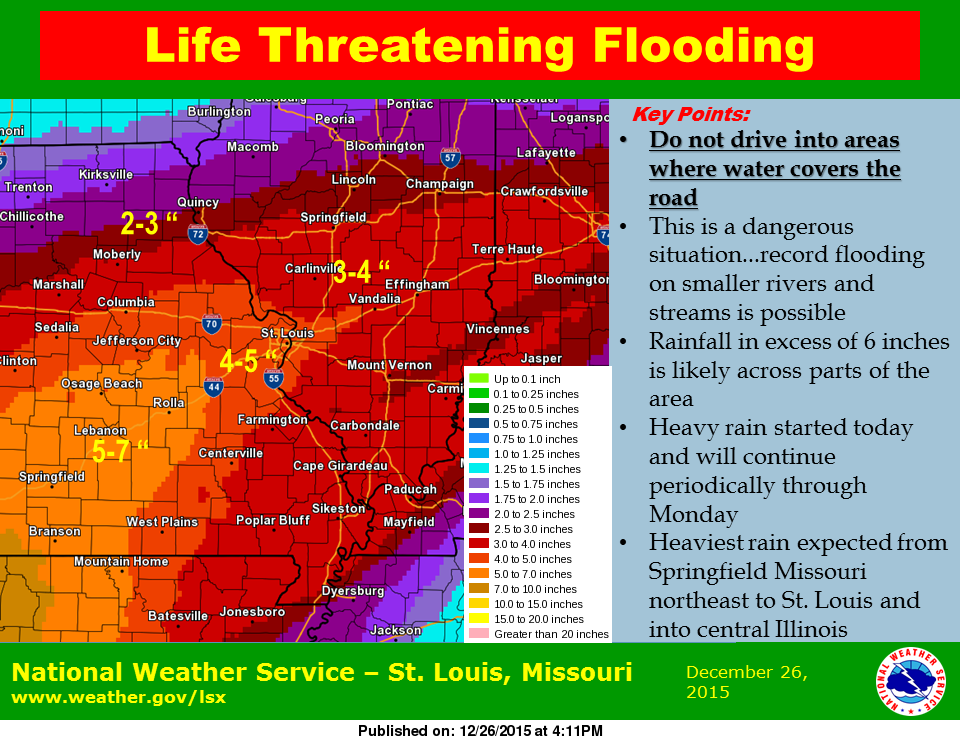 Update from NWS in St. Louis on rainfall amounts