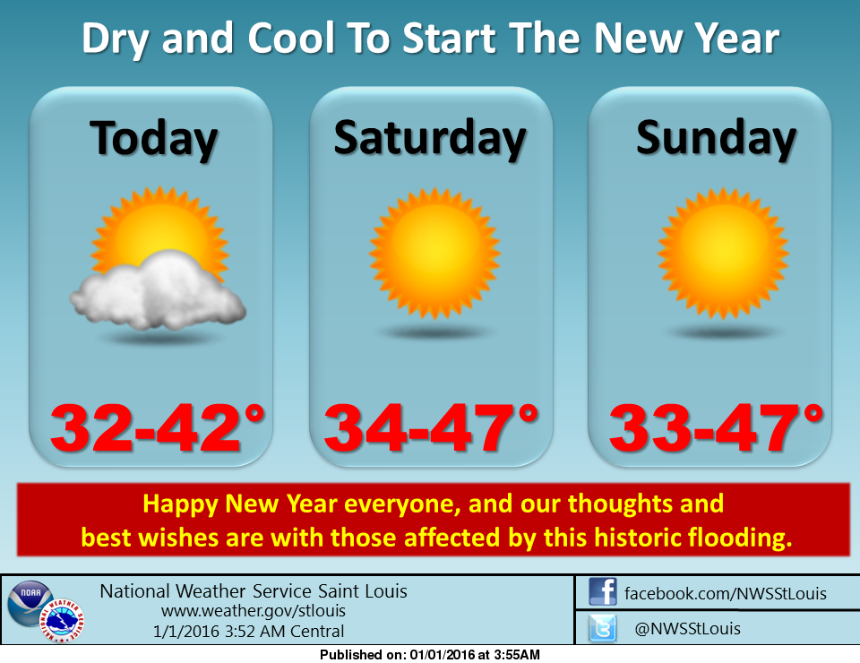 We'll be dry and cool to start the New Year