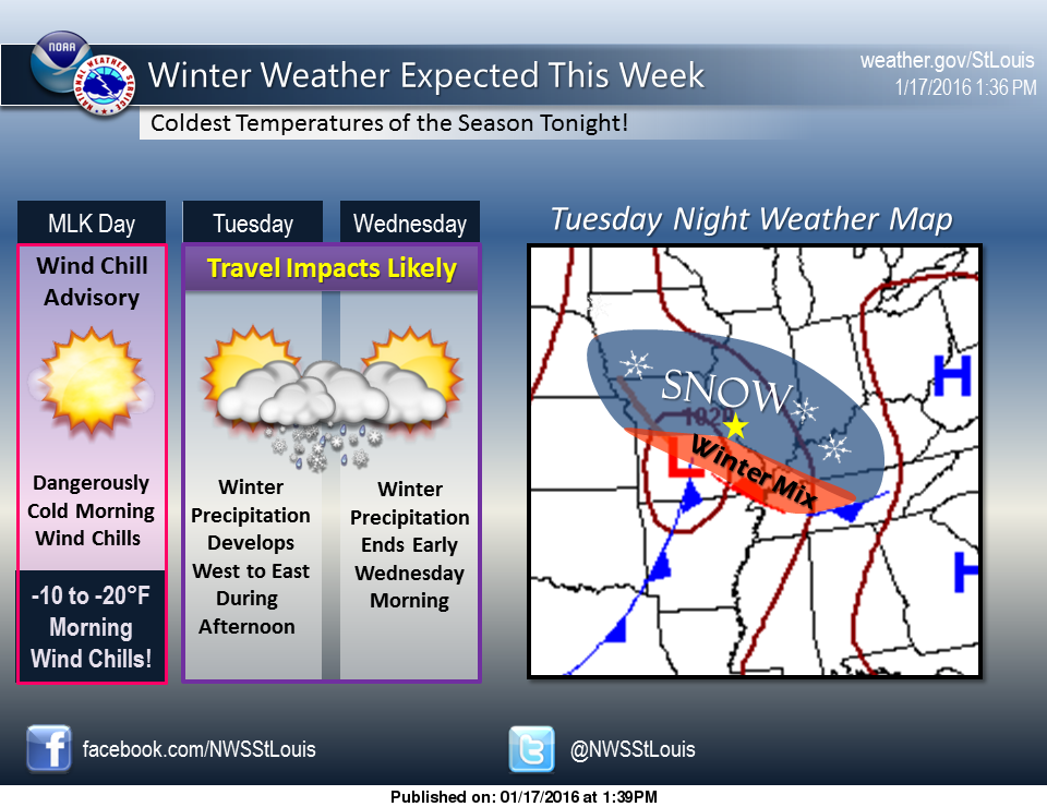 Extreme Cold today, Snow Storm coming to area tomorrow night