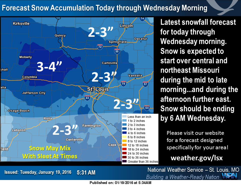 Snow on the way tonight, area under a Winter Weather Advisory beginning at 6 pm