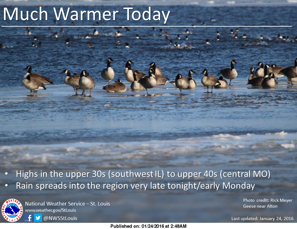 Warmer today, more mild winter weather on the way this week