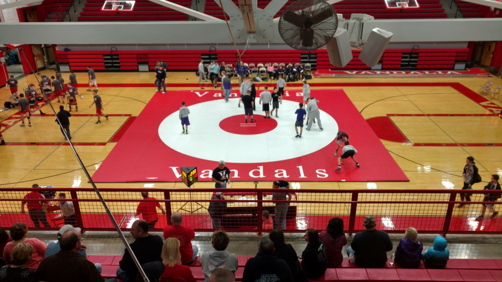 Vandals wrestlers with home quad today