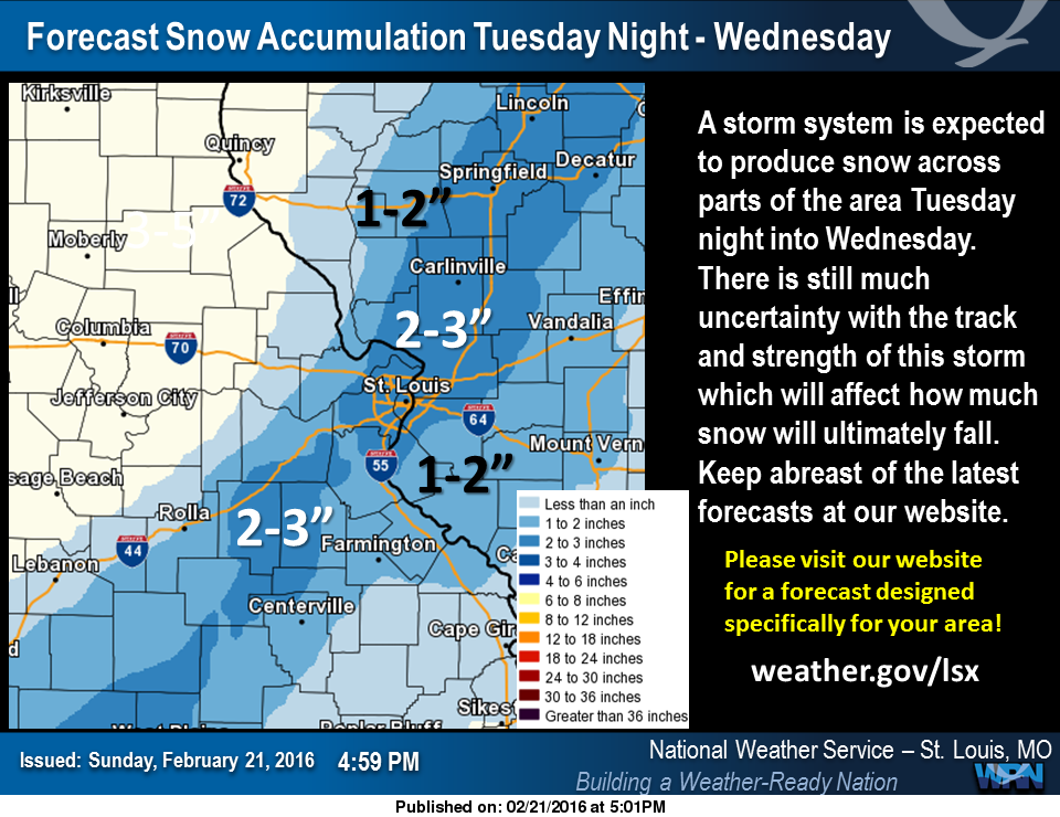 Snow event looks to be on the way for Wednesday