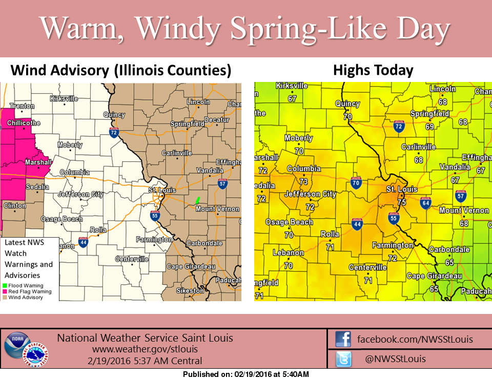 Warm Weather today, throughout the weekend