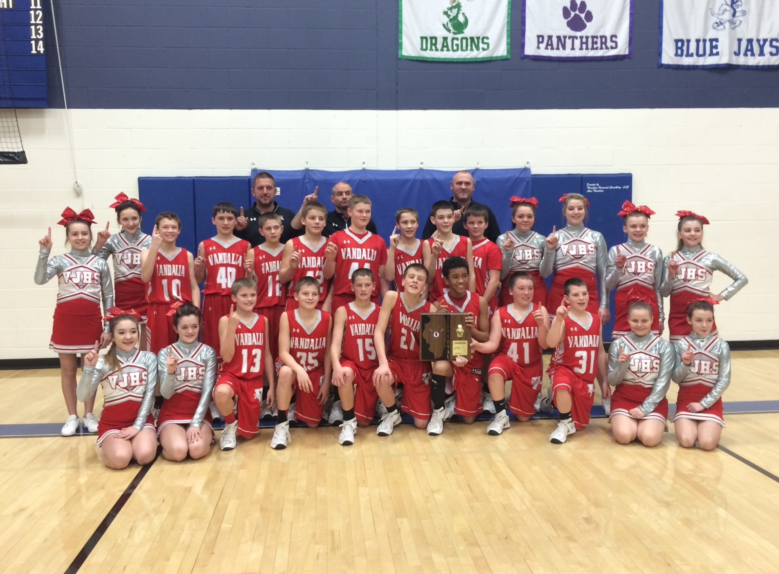 7th Grade Vandals Win Sectional Title and Are Headed To State