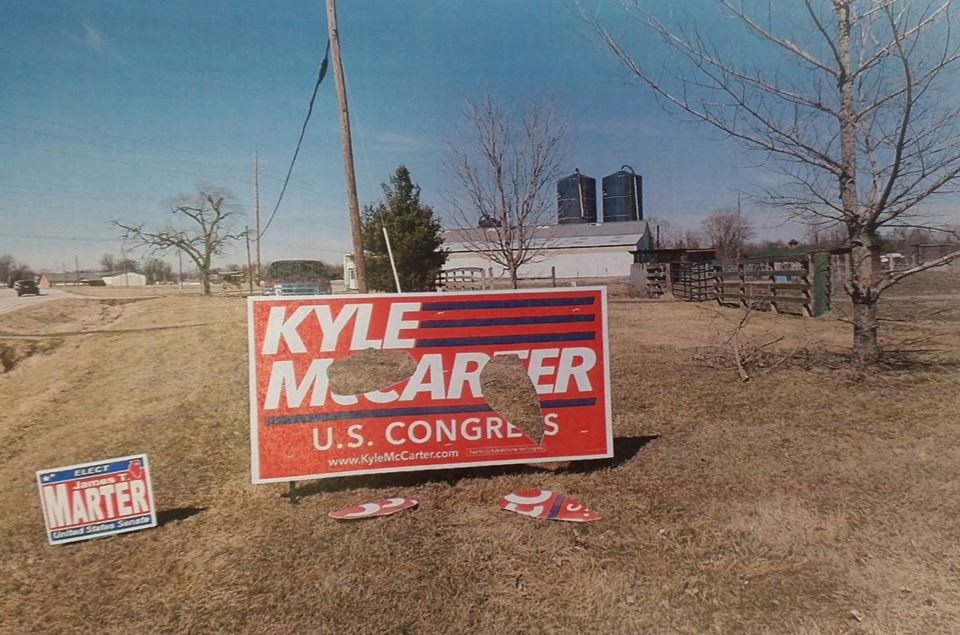 Fayette Co Sheriff's Dept investigating damage to political signs