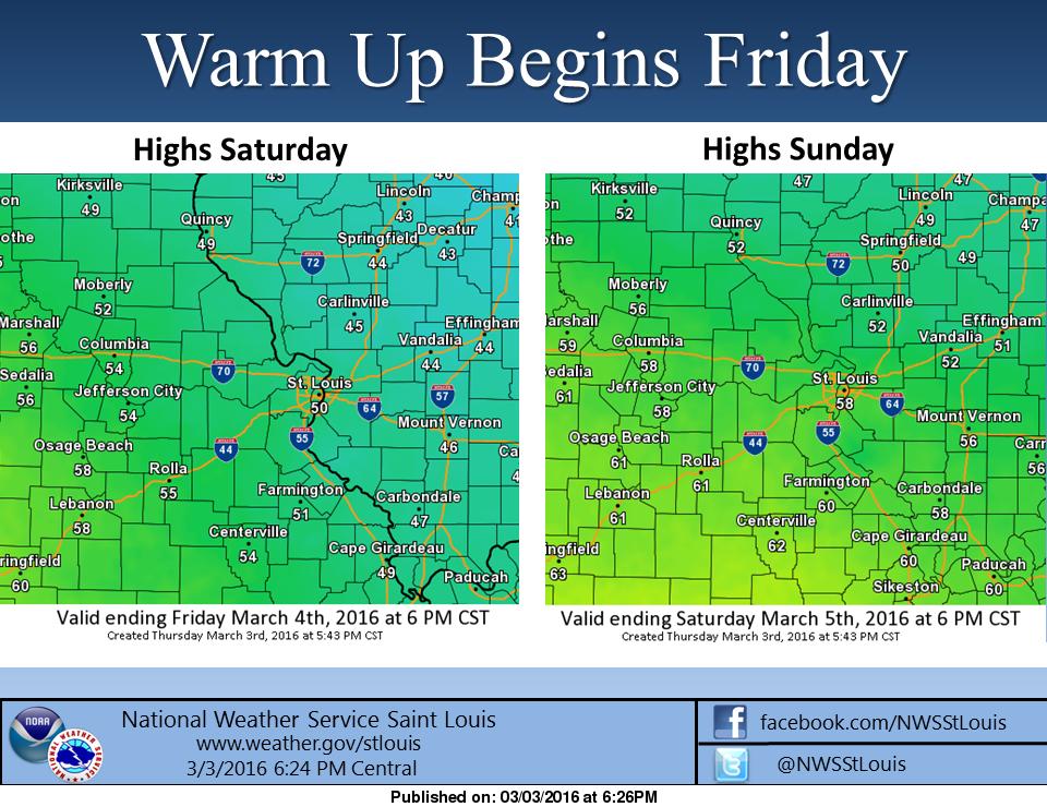 Warmer weekend, stormy next week