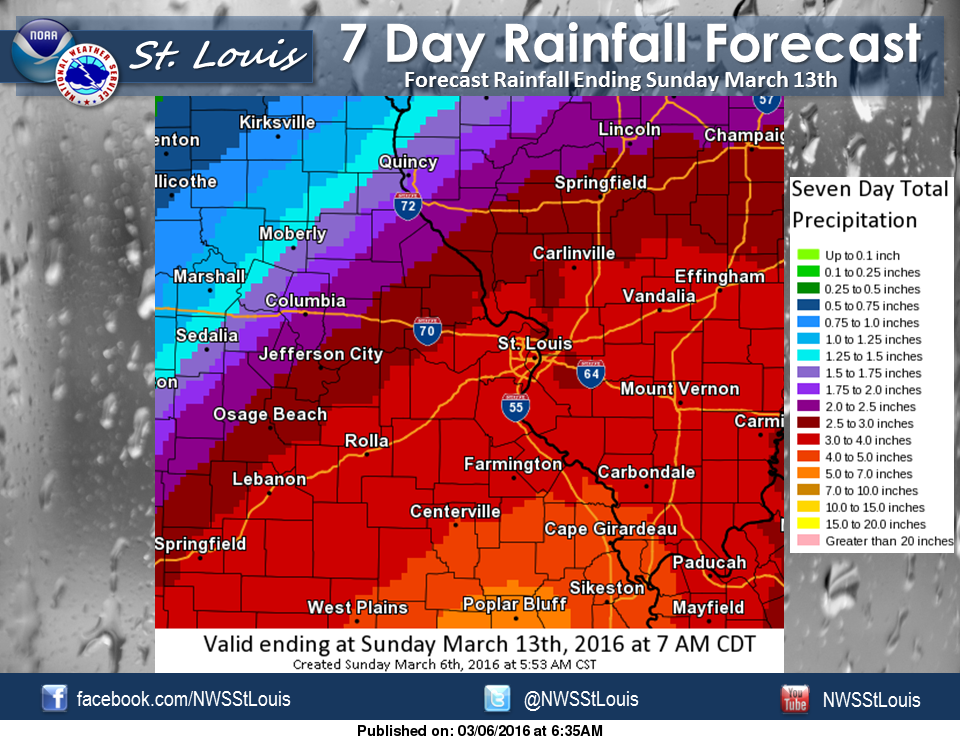 Heavy Rain on the way---NWS calling for 3 to 4 inches in Fayette Co over next 7 days