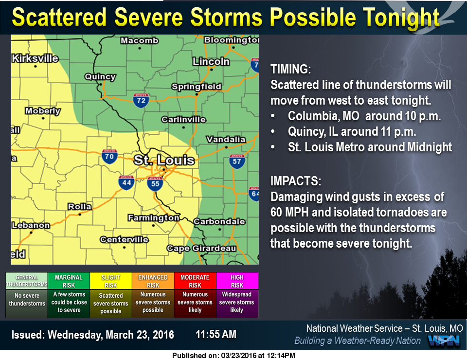 "Fayette County with ""Marginal"" Chance for Severe Storms tonight"